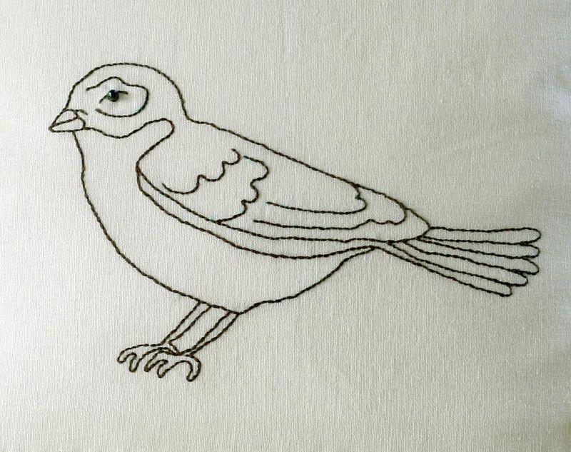 Digi - bird embroidery