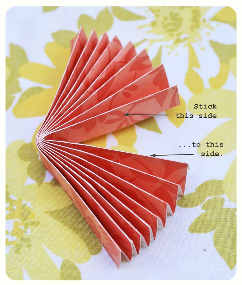 Rosette - folding piece