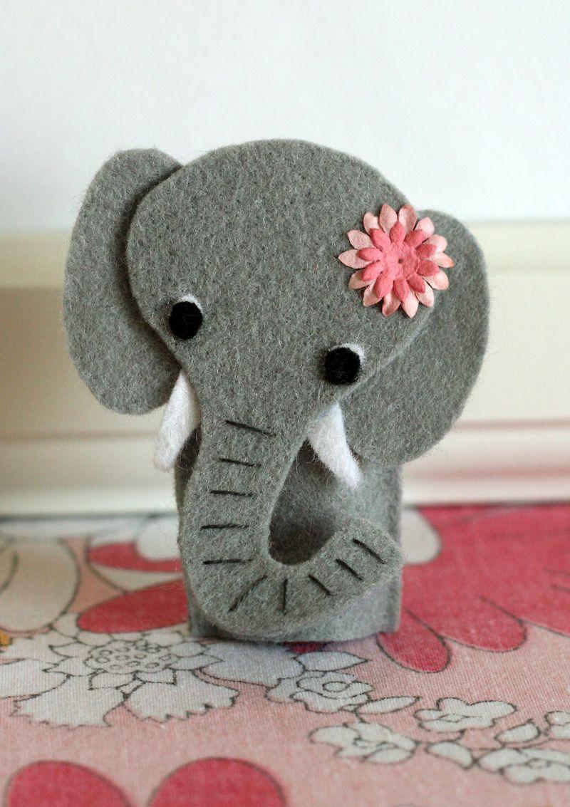 Elephant finger puppet 2