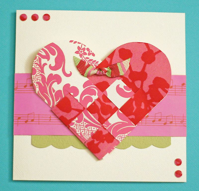 Scandinavian heart card