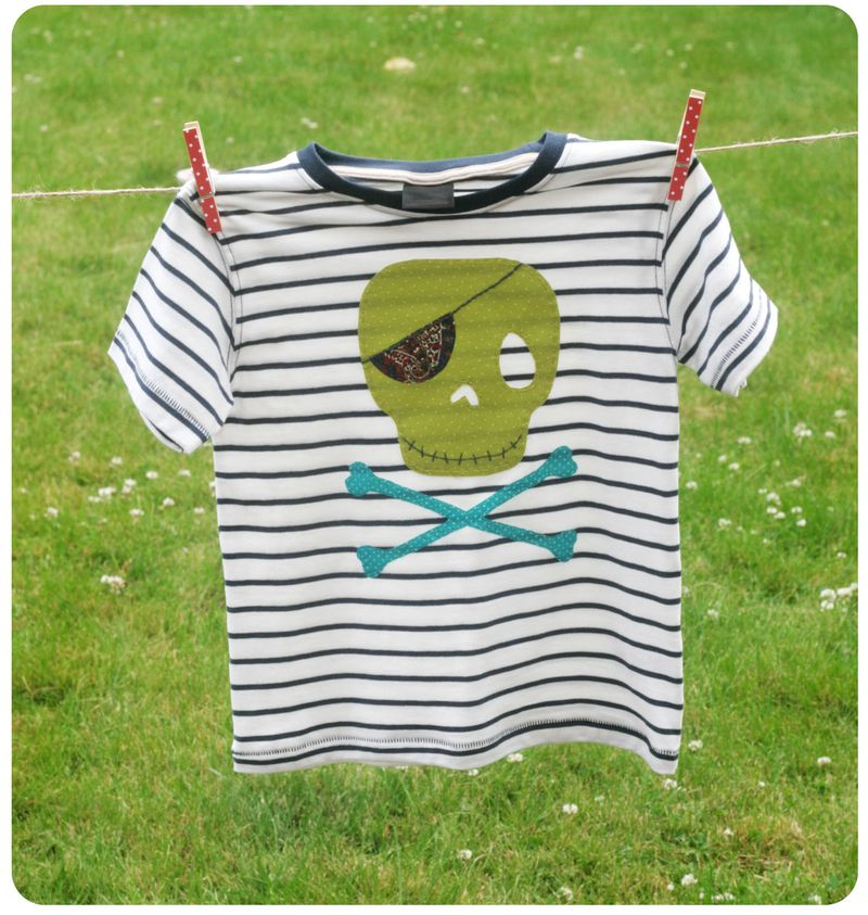 Applique tshirt - pirate