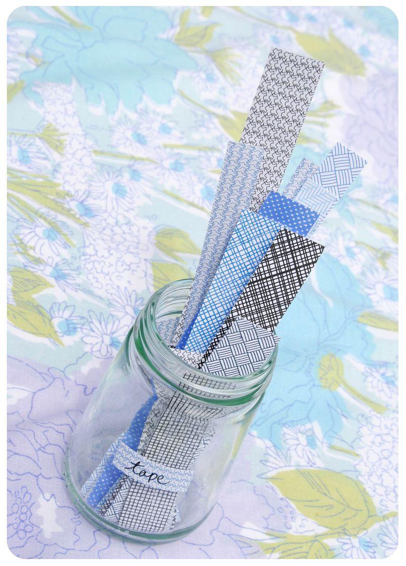 Envelope tape in jar