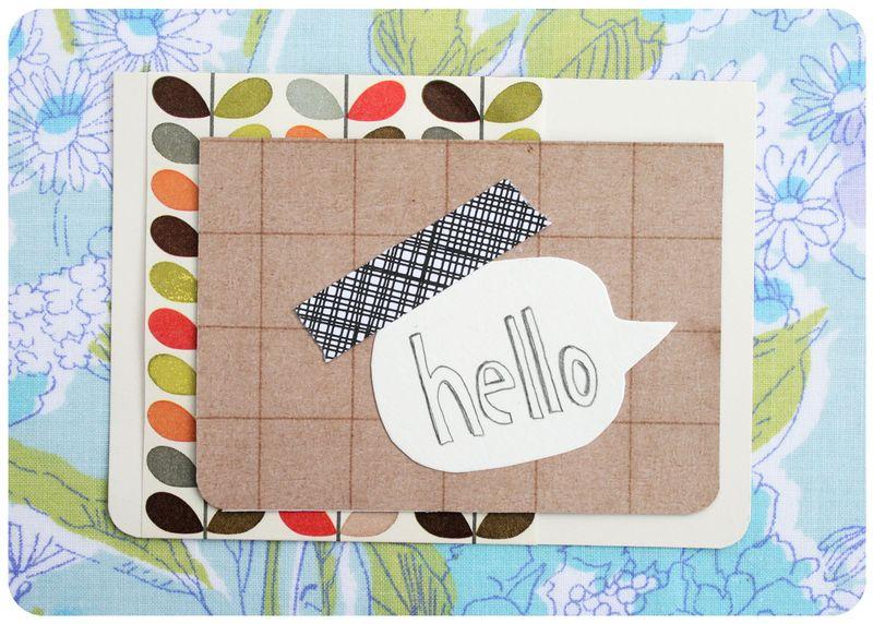 Envelope tape card