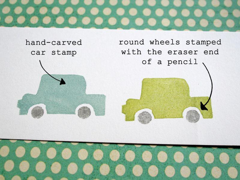 Eraser stamping - cars 1