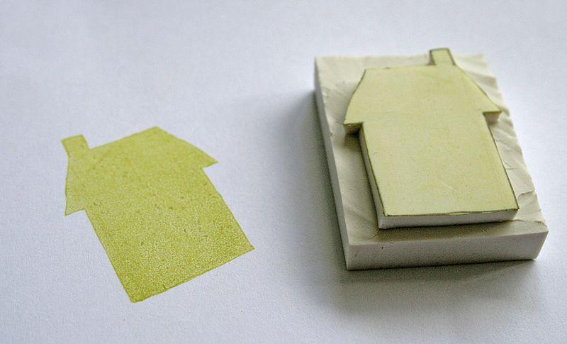 Eraser stamping 7