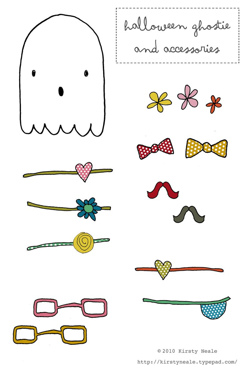 Halloween ghostie templates