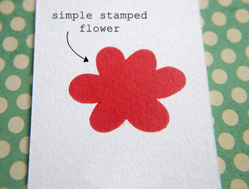 Eraser stamping - flower 1