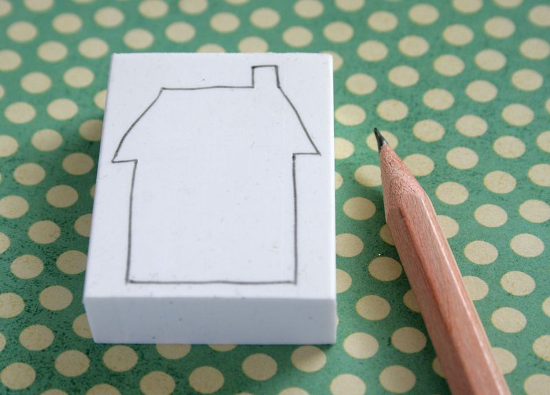 Eraser stamping 1