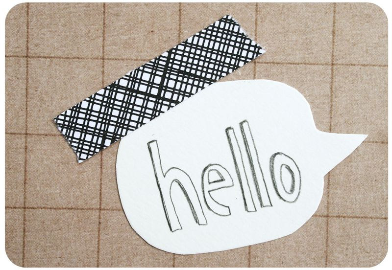 Envelope tape - hello