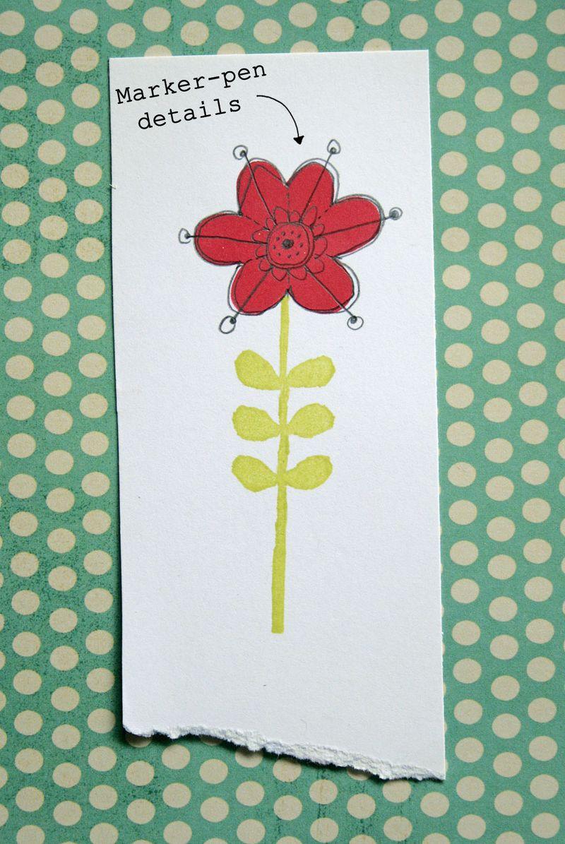 Eraser stamping - flower 3