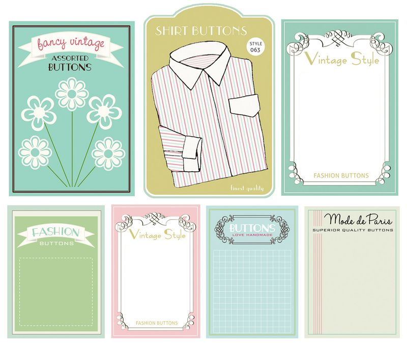 Button cards for blog
