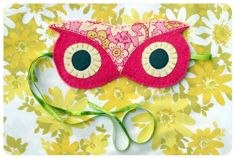 Owl sleep mask