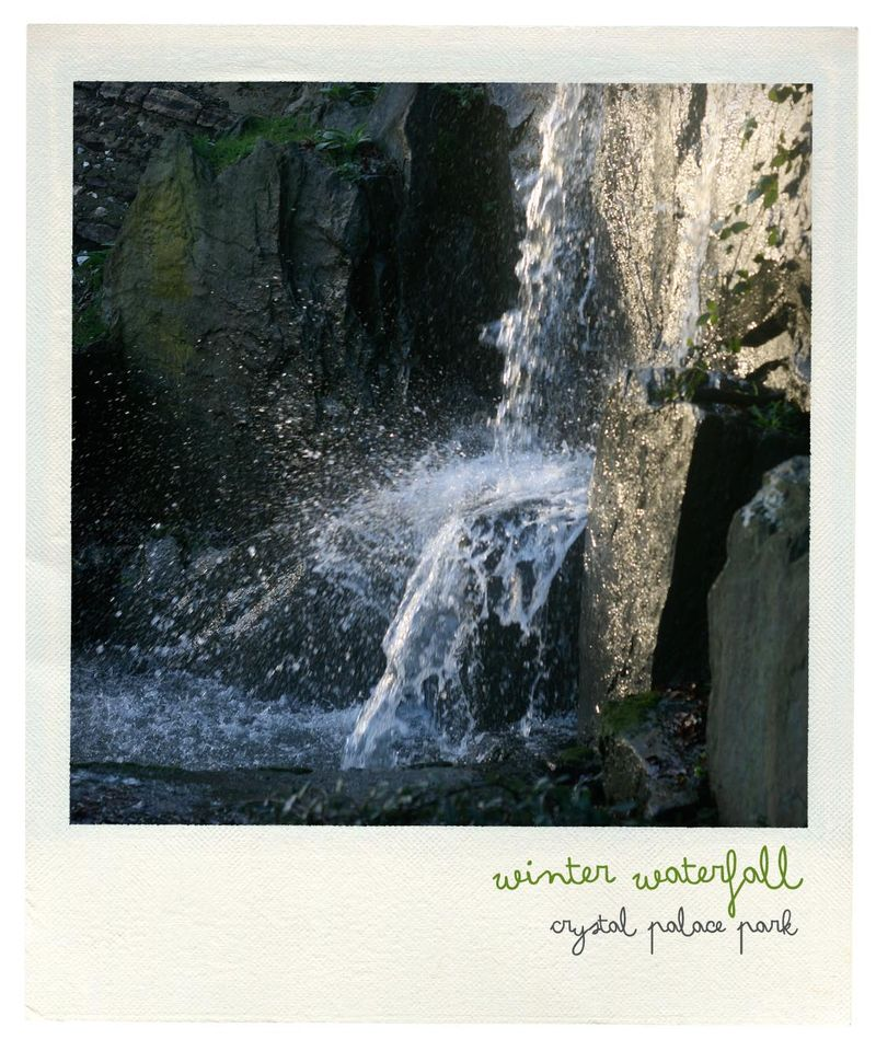 Winter waterfall polaroid