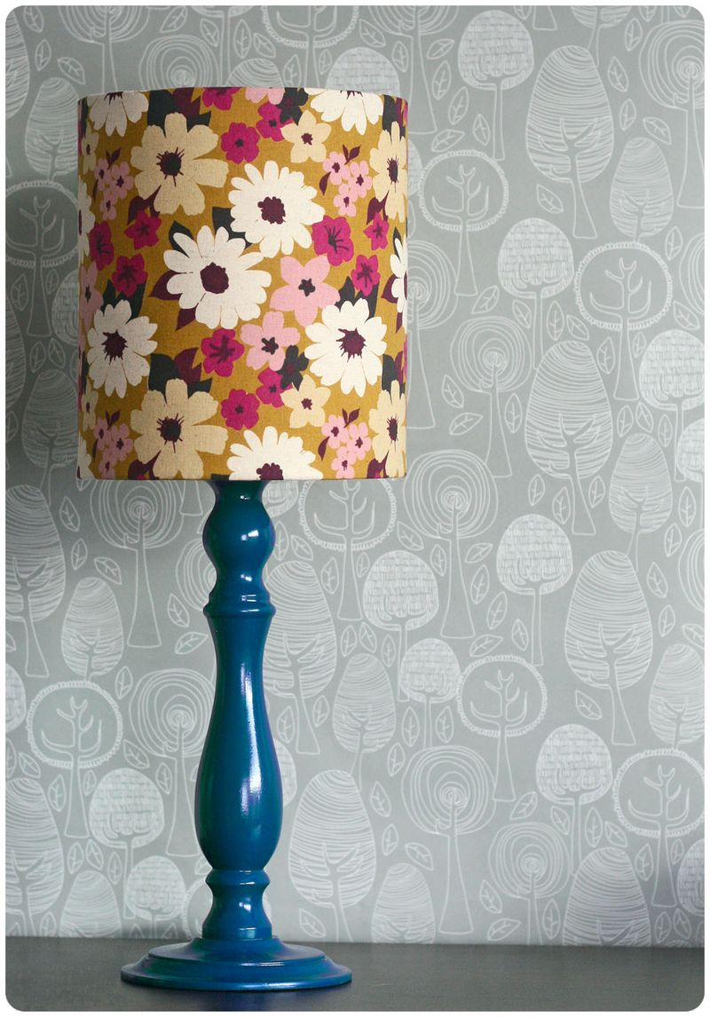 Retro lamp and shade