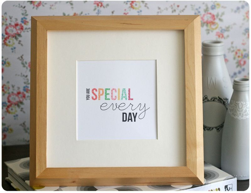 Special Every Day framed print