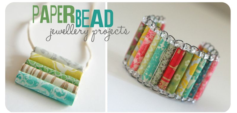 Paper bead jewellery projects
