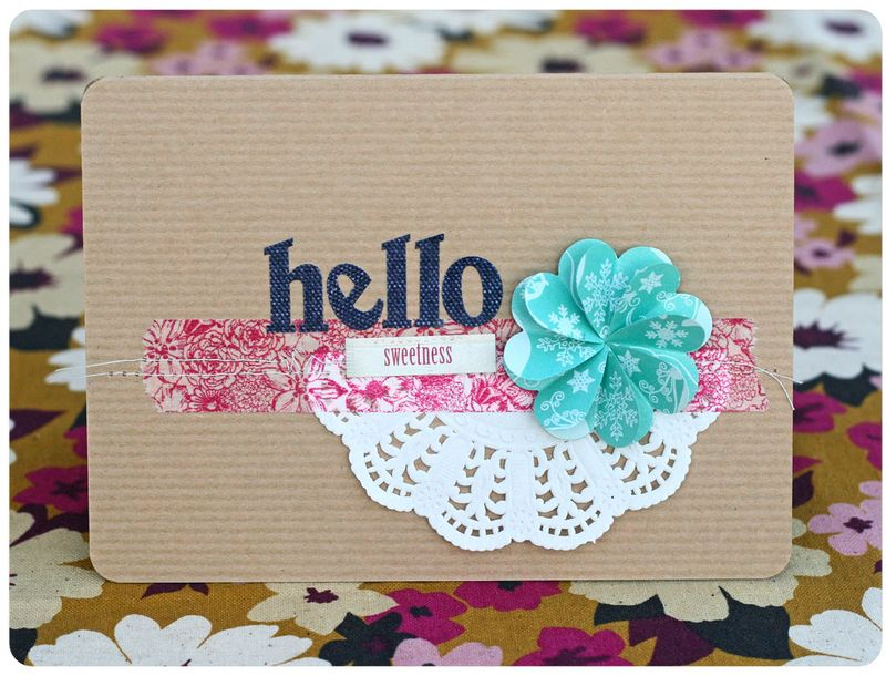 Hambly hello flower card