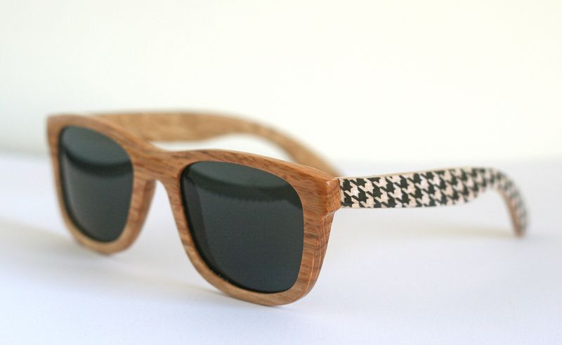 Houndstooth + wood sunglasses (from Paperie 100 Creative Papercraft Ideas by Kirsty Neale)
