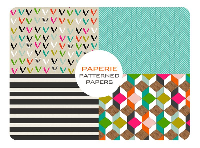 Patterned papers (from Paperie 100 Creative Papercraft Ideas by Kirsty Neale)