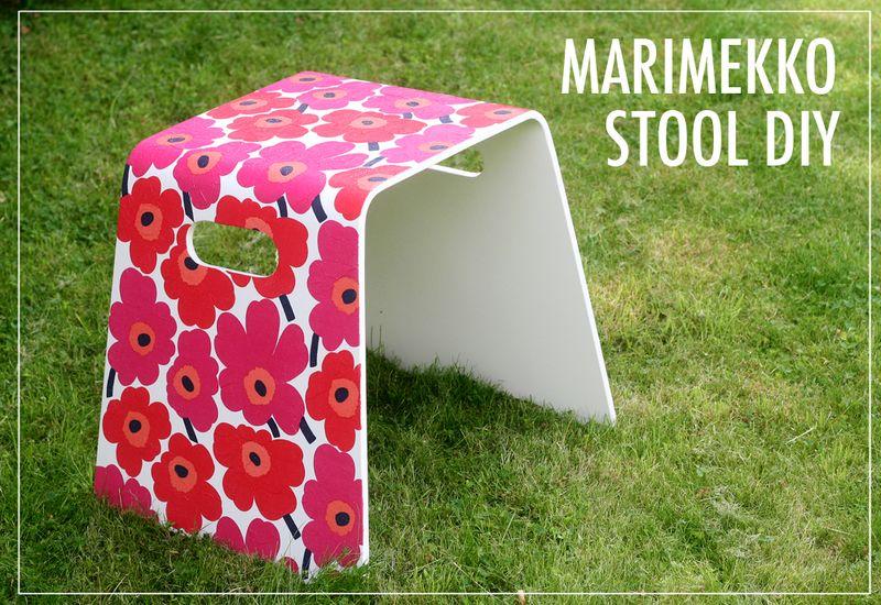 Marimekko stool (grassy)