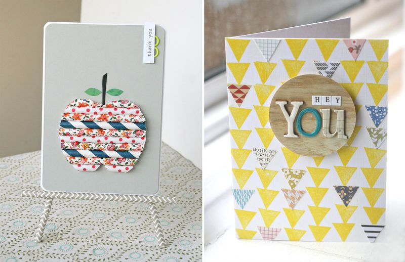 DIY cards (apple + triangles) - Kirsty Neale for Papercraft Inspirations