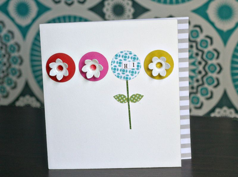 DIY retro flowers card - Kirsty Neale for Papercraft Inspirations