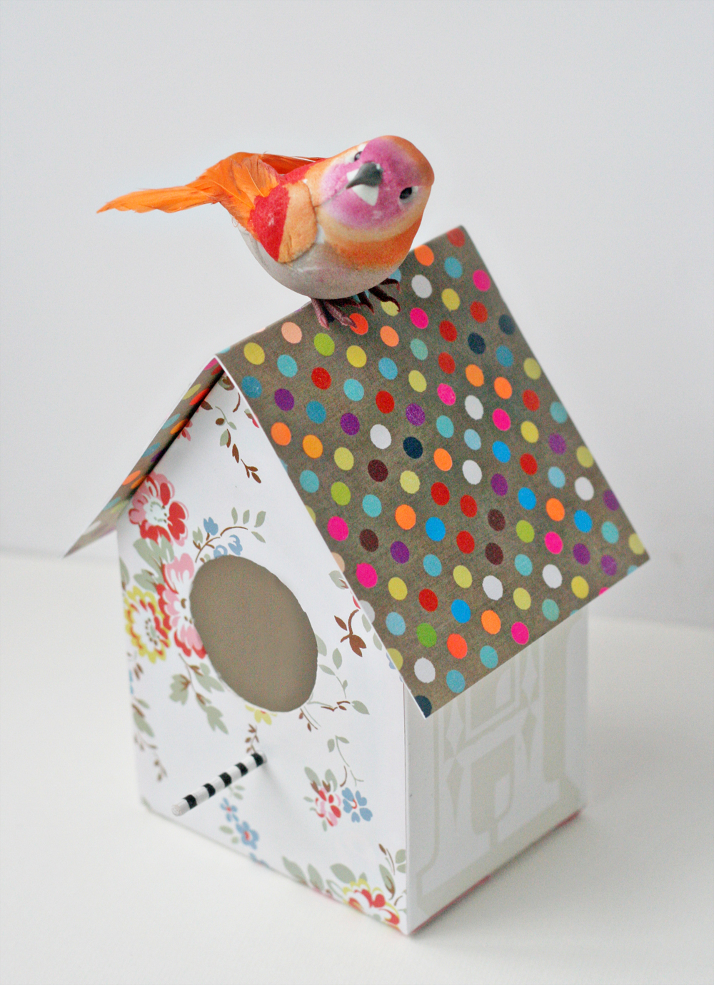 Paper birdhouse decoration (from Paperie 100 Creative Papercraft Ideas by  Kirsty Neale)