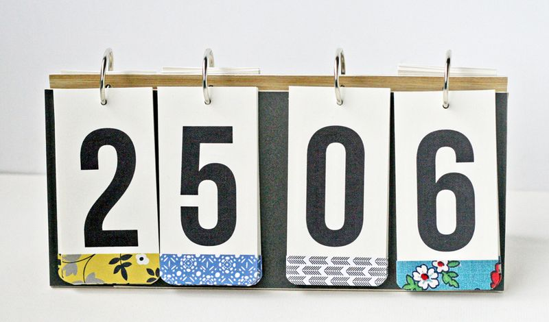Perpetual desktop calendar DIY (from Paperie 100 Creative Papercraft Ideas by Kirsty Neale)